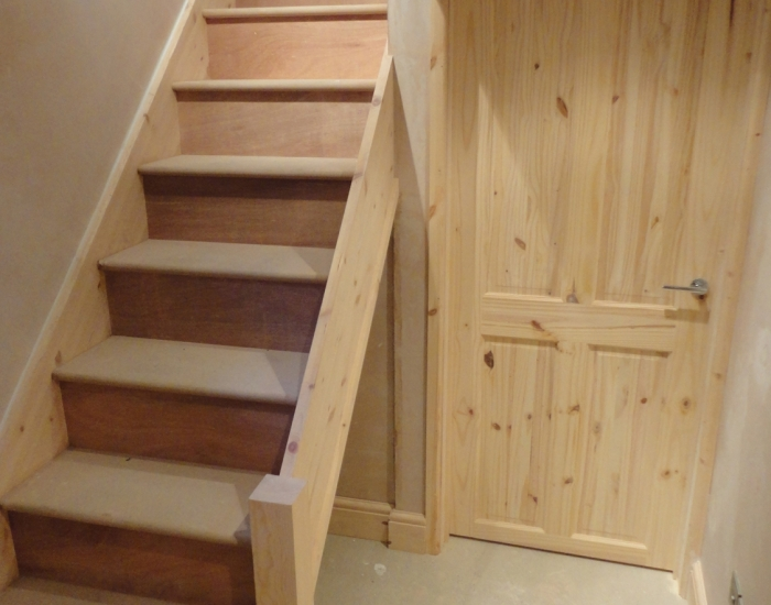 Bespoke staircase made for basement conversion