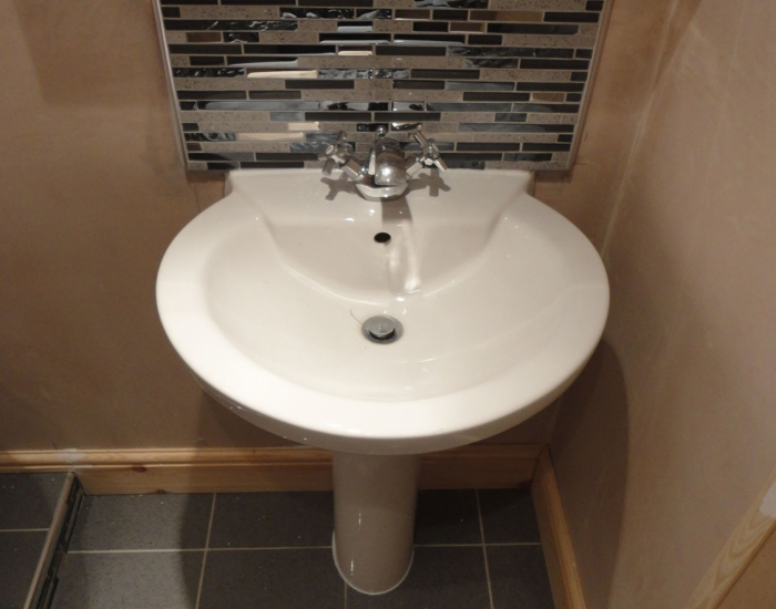 Bathroom sink installation at property in Purley
