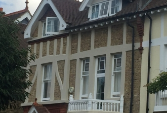 Complete brick restoration of the front elevation of a victorian property in Putney